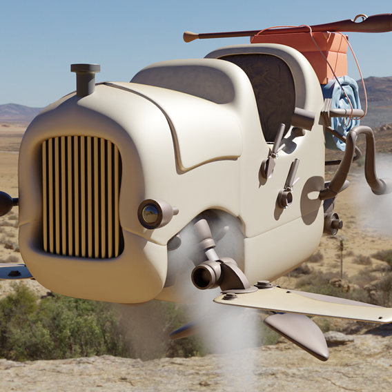 Steam Flying Car