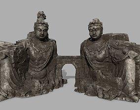 3D asset rocks buddha gate