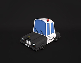 Low Poly Police Car 2 3D model realtime