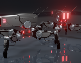 Sci-fi Spider Drone 3D asset