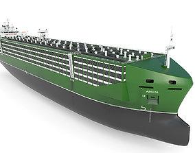 Livestock Carrier Green 3D model