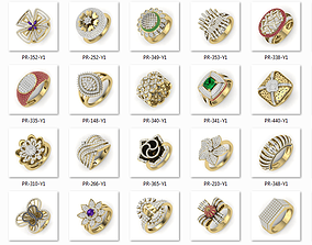 525 ladies women ring 3dm render details bulk collection