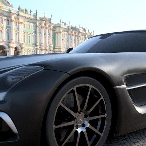 Mercedes benz SLS AMG 2012