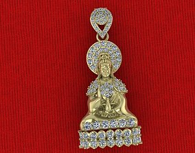 pendant mandarin yin Buddha 3D printable model