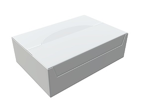 3D model Package blank white closed mock up