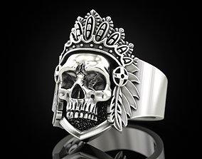 Indian Skull ring 3D printable model