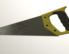 3D model low-poly Saw Game ready
