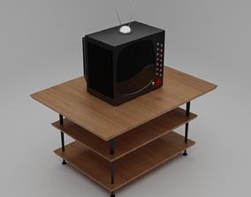low poly TV 3D asset low-poly