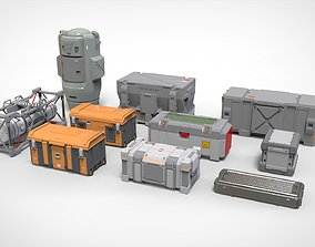 sci fi Container 3 3D model