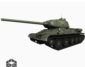 game-ready 3D Tank T34-85 Low Poly