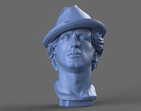 statue Rocky Balboa Bust 3D model