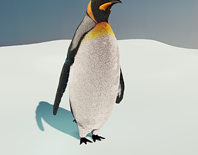 3D model animated PBR Emperor Penguin