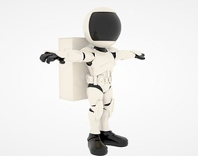 rigged Astronaut 3D Rigged Model
