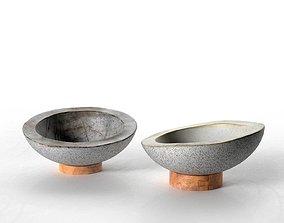 Concrete Bowls Nr2 3D