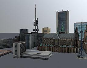 3D model Prague High Rise Pack