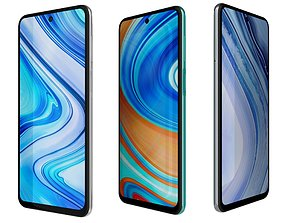3D Xiaomi Redmi Note 9 Pro All Colors