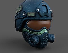 Helmet scifi combat military fantasy 3D model