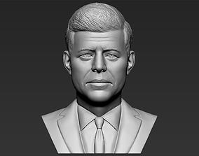 John F Kennedy bust 3D printing ready stl obj formats
