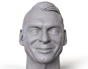 Vince McMahon 3D printable portrait sculpture