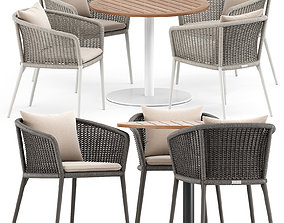 3D KNOT ARMCHAIR by JANUS and STEM 003 table by Roda