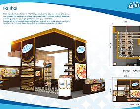 Booth F Plus design size 9 X 6 m 54sqm 3D model