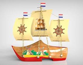 Netherland Boat Souvenir 3D printable model
