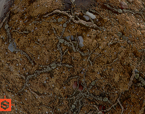 Dirty Ground 3D asset animated