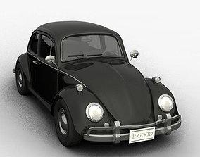 volkswagen beetle 3D model realtime