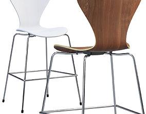 3D Fritz Hansen Series 7 counter stool