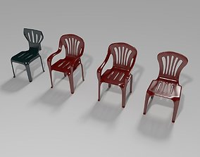Plastic Chairs Collection 1 3D model
