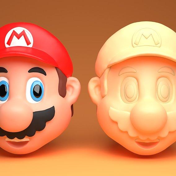 Super Mario 3D Printable Model