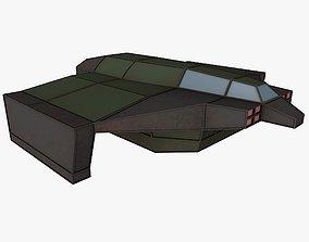 3D asset cargo space ship 3