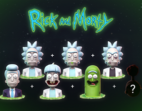 3D print model Rick and Morty Head Collection -