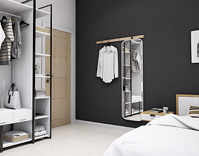 APARTMENT INTERIOR - BEDROOM 2 AND 3 3D