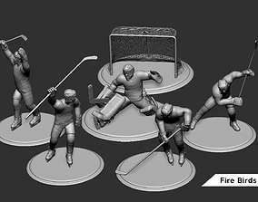 3D print model Ice Hockey Player Goalie Collection 5