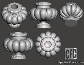 Decorative vase - 3d model for CNC - DecorativeVase005