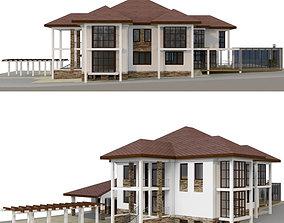3D Brick house masonry