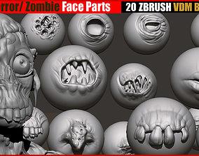 Horror Zombie Face Parts VDM Brushes 3D