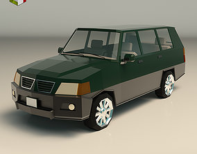 Low Poly SUV 01 3D model