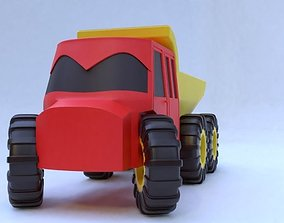 rigged toy car model