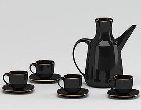 3D Modern Black Tableware