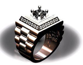 3D print model Mens Ring 2 Tone