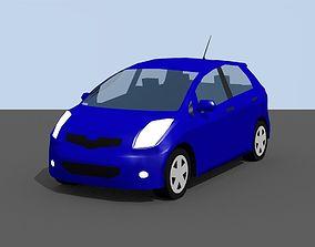3D model Low Poly Toyota Yaris