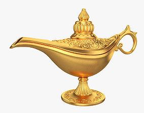 Gold magic lamp 3D