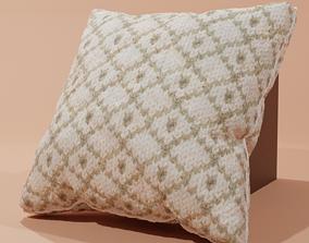 knitted pillow 3D model