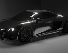3D model Audi R8 Spyder 2017