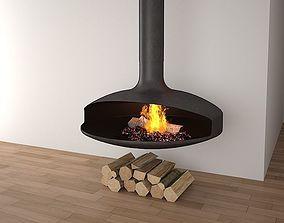 hot 3D model Fire place 04
