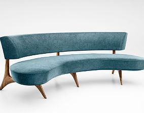 Vladimir Kagan Floating curved sofa model