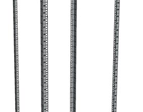 42 Ru cabinet rails 3D