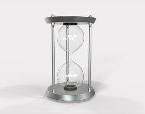 Sand Clock Timmer - 3d model Metal finish sand
